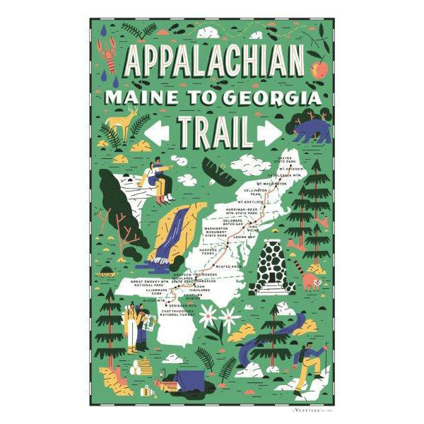 Appalachian Trail Kitchen Towel