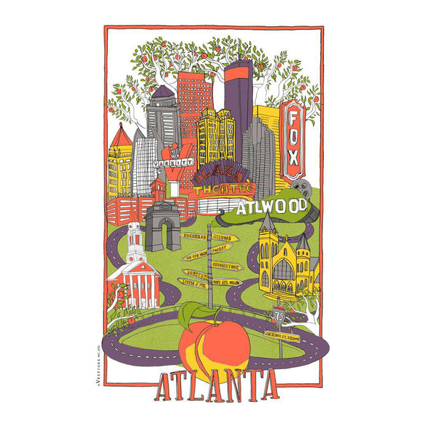 Atlanta Collage Kitchen Towel
