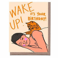 Wake Up Cat Card