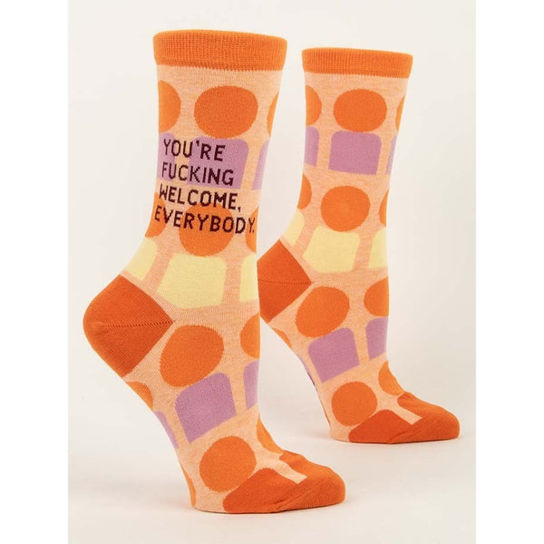 You're Fucking Welcome Women's Crew Socks