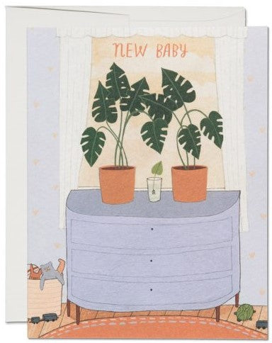 Nursery Plants New Baby Card