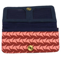 Cotton Long Wallet - Brick Red Ray