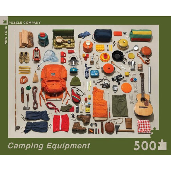 Camping Equipment Collection Puzzle