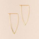 Galaxy Triangle Earrings - Gold