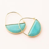 Prism Hoop Earrings - Turquoise/Gold
