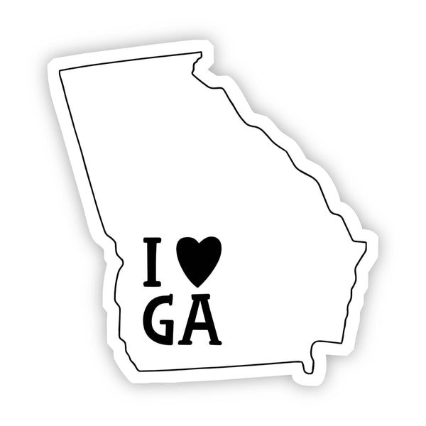 I Love Georgia Sticker