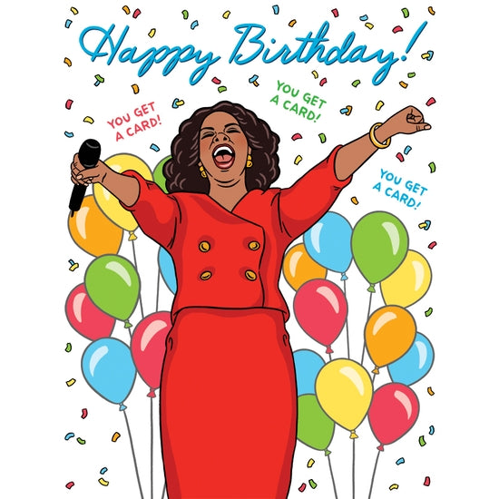 Oprah Happy Birthday Card