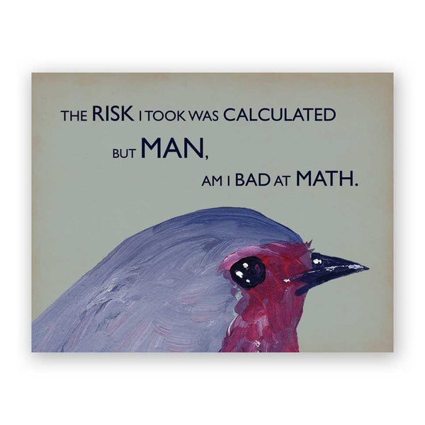 Bad at Math Card