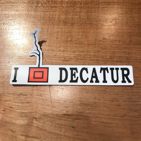 I Love Decatur Tree Box Sticker