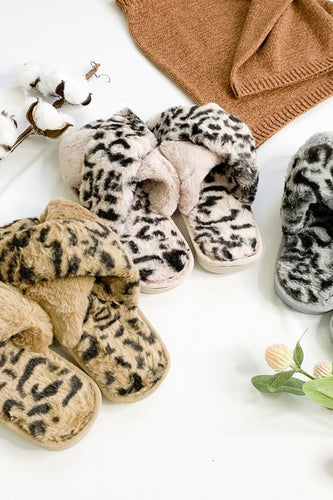 Furocious Slippers - Taupe