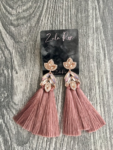 Gala Earrings - Mauve