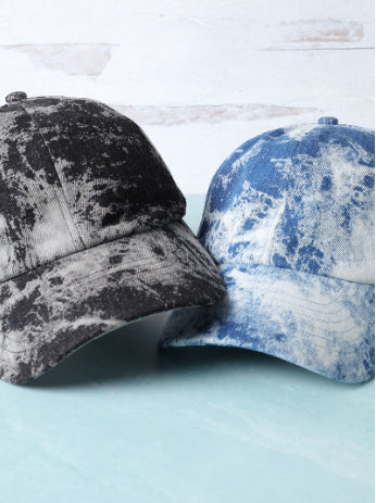 Tie Dye Denim Dad Hat