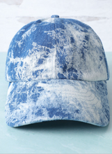 Load image into Gallery viewer, Tie Dye Denim Dad Hat