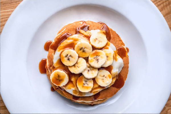 Cramp Cravings! Let's Make Banana Pancakes with Cinnamon Streusel