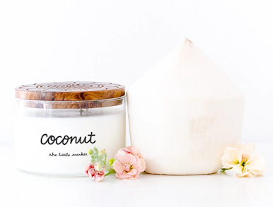 The Little Market Coconut Candle