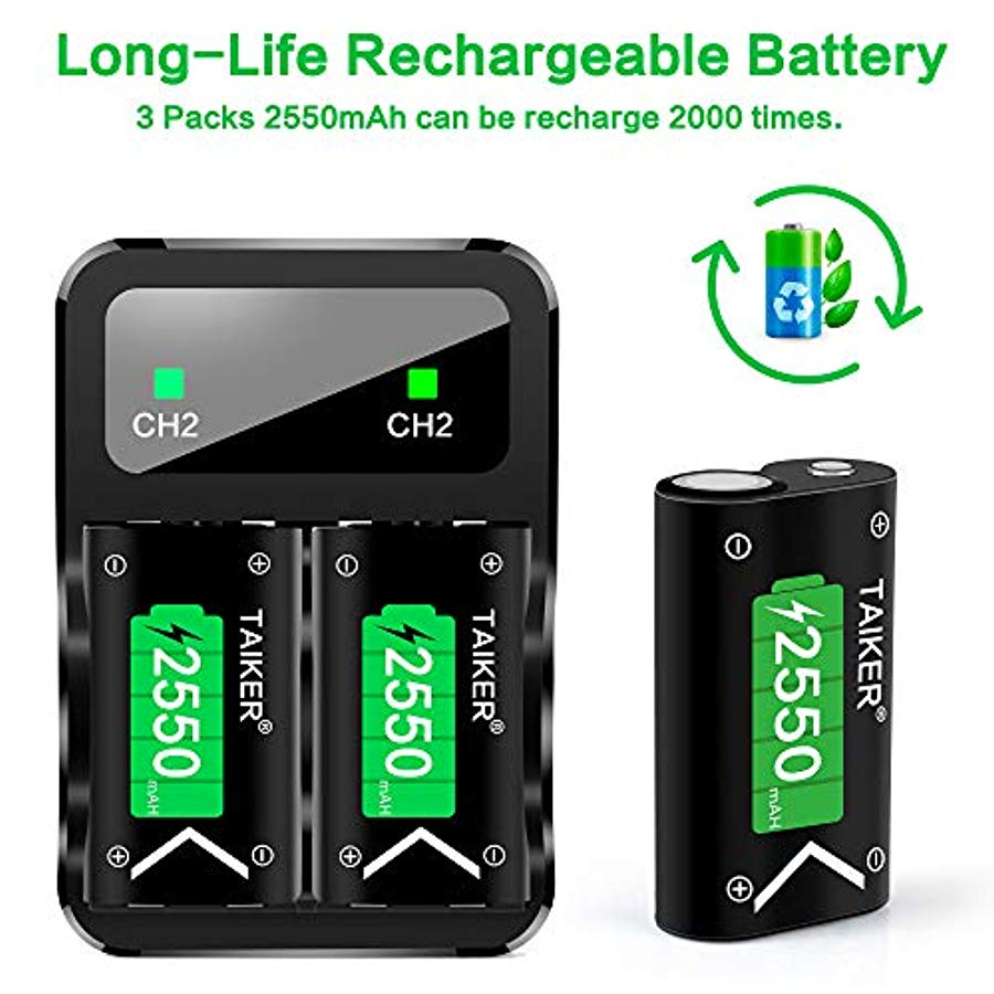 Compatible Con Xbox One Battery 4 Pack X 2550mah Cont... - TODOENCARGO.COM