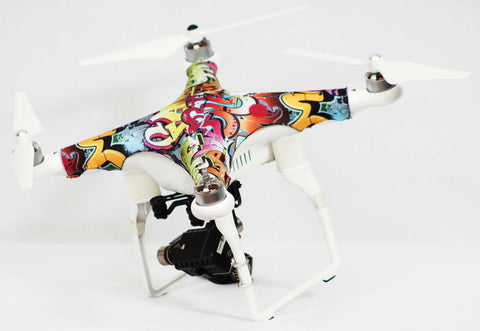 DJI® Phantom 1, 2, 3  Grafitti Action II