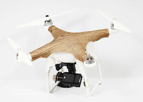 DJI Phantom 1, 2, 3 - WoodSkinz - Dark
