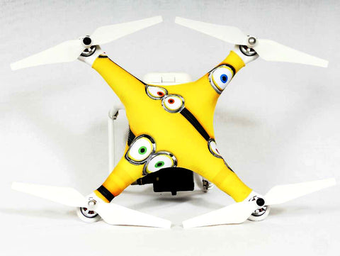 DJI® Phantom 1-2-3  - Crazy Eyes Skinz Yellow