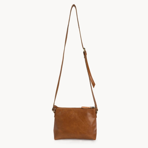 Classic Leather Crossbody, Camel