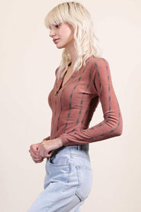 Laurel Bodysuit, Rust