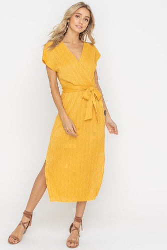 Delilah Dress, Golden Mustard