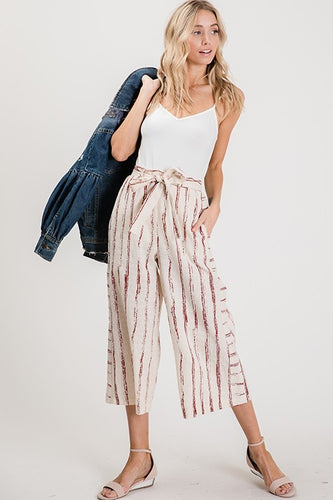 Kari Pants, Burgundy Stripe