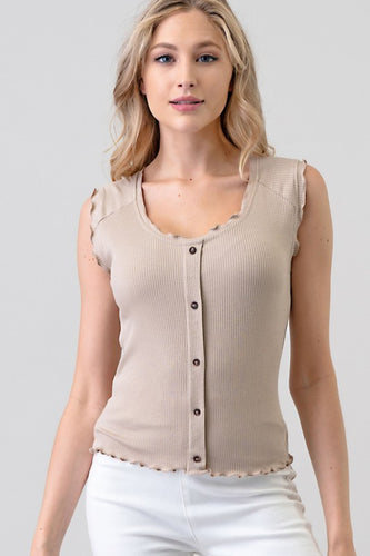 Lauryn Top, Taupe