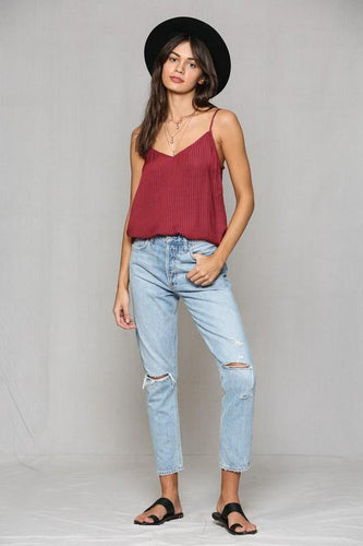 Selena Top, Burgandy