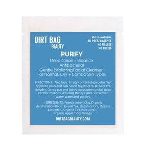 Dirt Bag Single Use Masks, Purity
