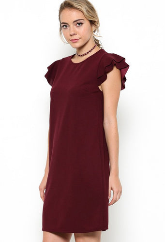 Leah Dress, Burgundy