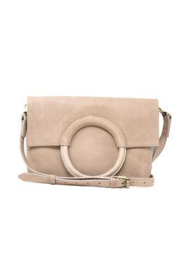 Fozi Ring Crossbody, Fog/Bone