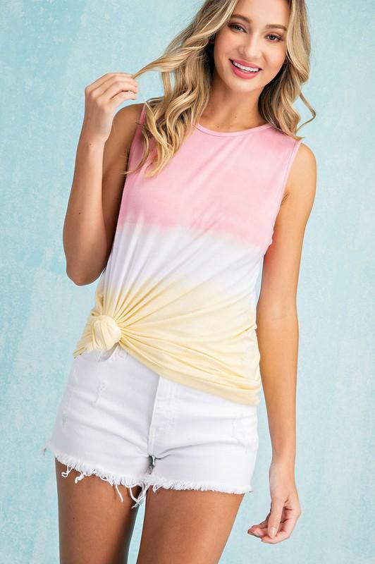 Julie Top, Pink/Yellow