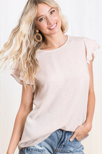 Amaris Top, Ivory/Orange