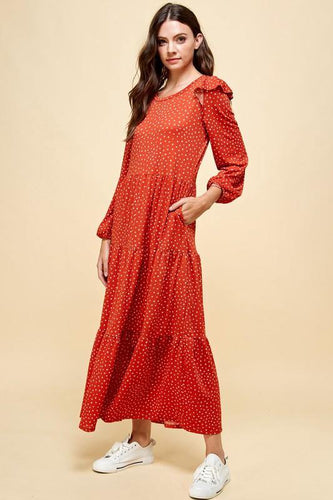 Shiloh Dress, Rust