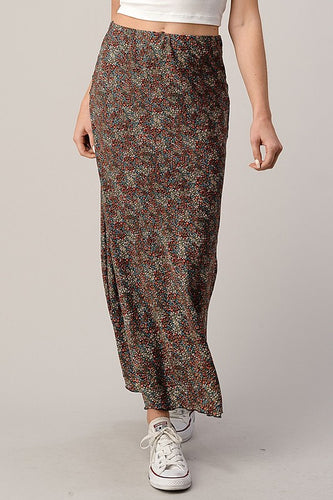 Lennon Skirt, Black Floral