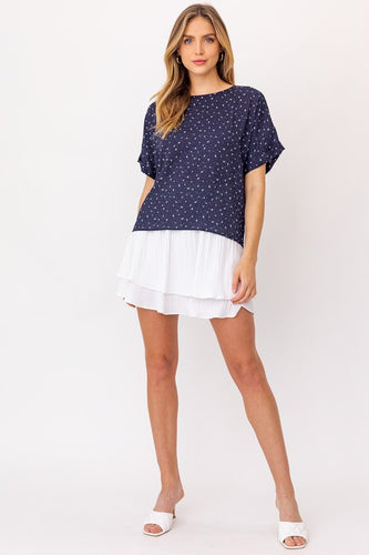 Gracelyn Top, Navy