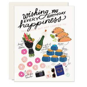 Every Happiness Birthday Card