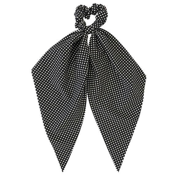 Darling Scrunchie, Black Polka Dot