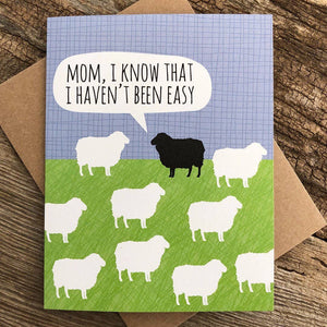 Mom Black Sheep Card
