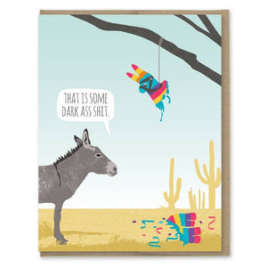 Donkey Pinata Birthday Card