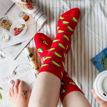Load image into Gallery viewer, Women's Socks, Avocado & Taco