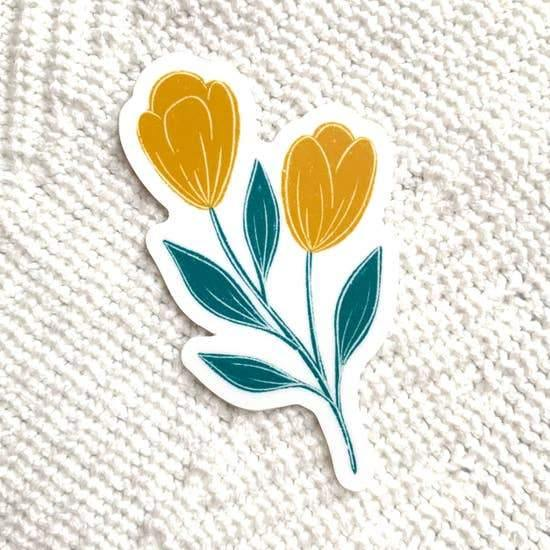Stickers, Yellow and Blue Tulips