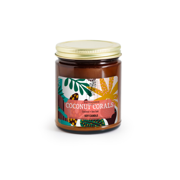 Coconut Coral Soy Candle