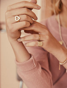 Heart Signet Ring, Gold