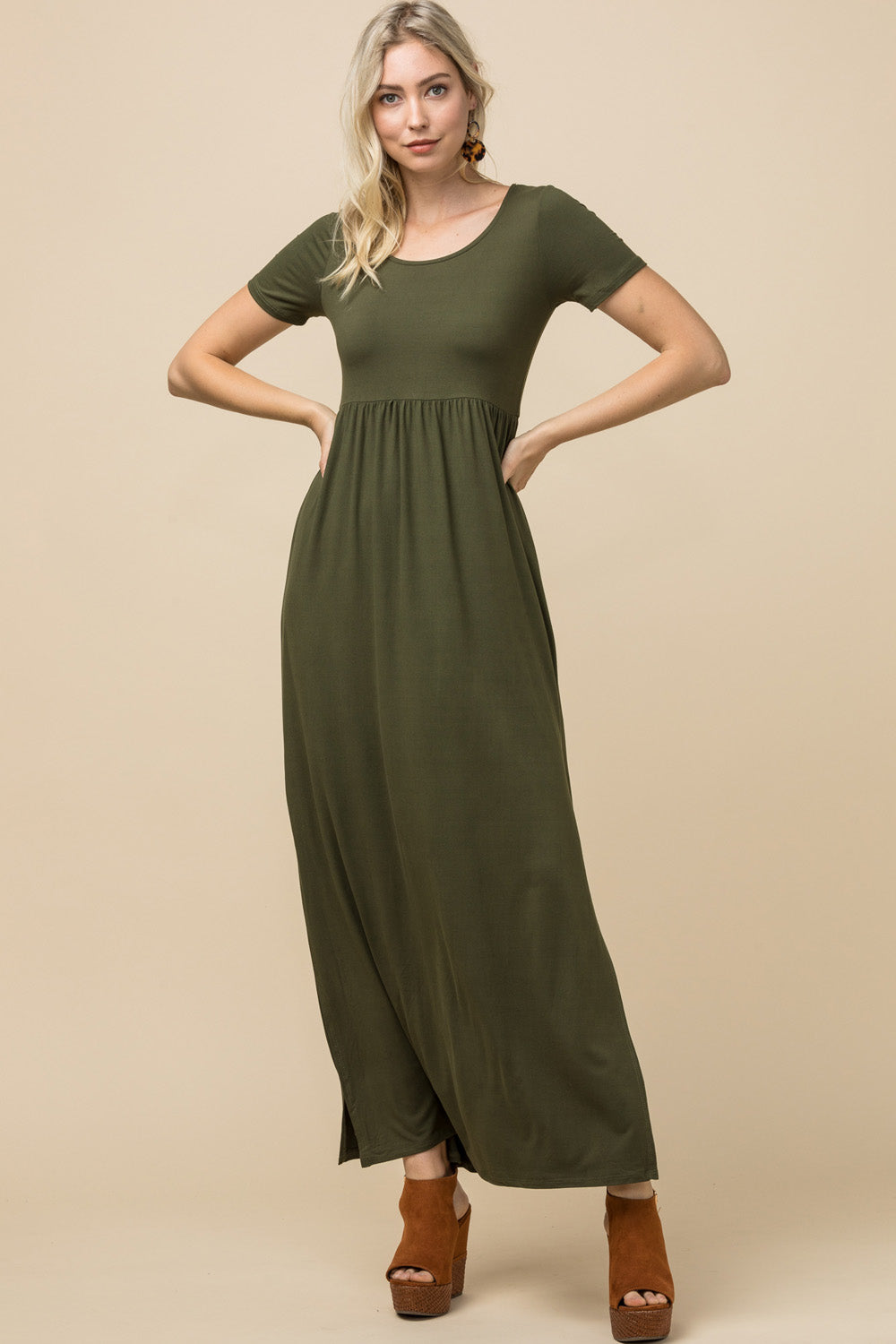 Annabell Dress, Olive