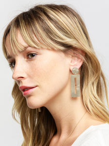Piazza Earrings, Pearl