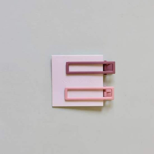 Hair Clips, Lu Lu In Mauve + Pink