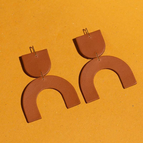 Cozumel Earrings, Tobacco