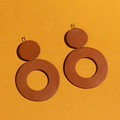 Stela Earrings, Tobacco